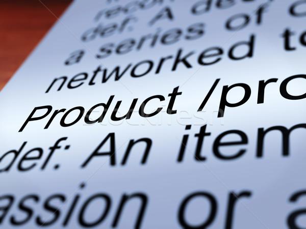 Produktu definicja towary sprzedaży Zdjęcia stock © stuartmiles