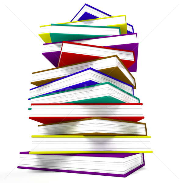 Stack Of Books Representing Learning And Education Stock photo © stuartmiles