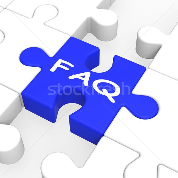 FAQ Puzzle Shows Frequent Inquiries Stock photo © stuartmiles