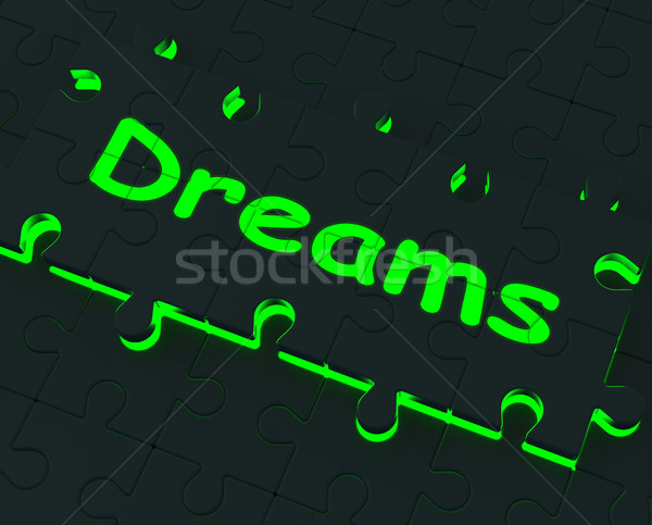 Dreams Puzzle Showing Desires And Wishes Stock photo © stuartmiles