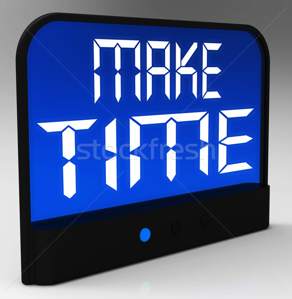 Make Time Clock Showing Scheduling And Planning Stock photo © stuartmiles