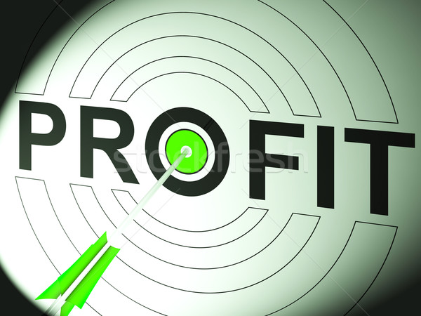 Profit Shows Business Success In Trading Stock photo © stuartmiles