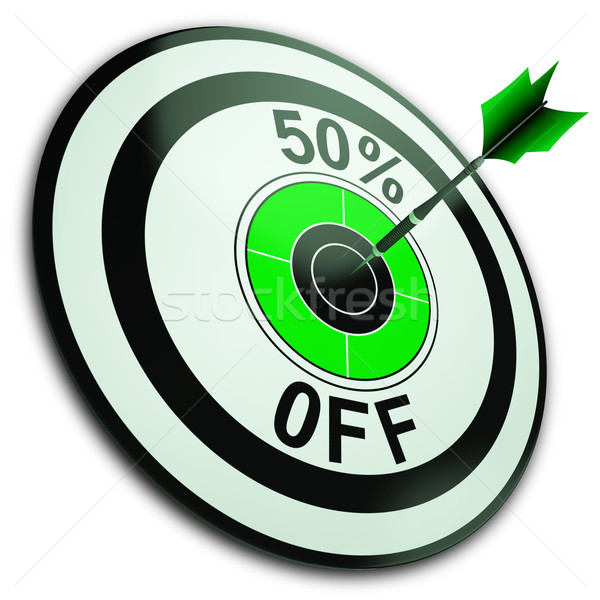 50 procent af reductie prijs tonen Stockfoto © stuartmiles