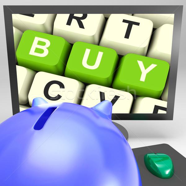 購入 キー モニター を コマース ストックフォト © stuartmiles