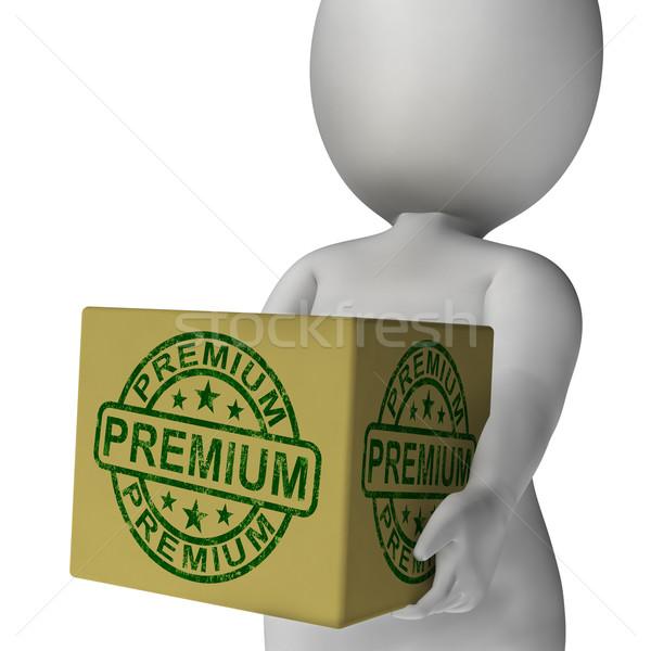 Premium Stamp On Box Shows Excellent Superior Premium Product Stock photo © stuartmiles