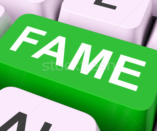 Stock photo: Fame Keys Mean Renowned Or Popular