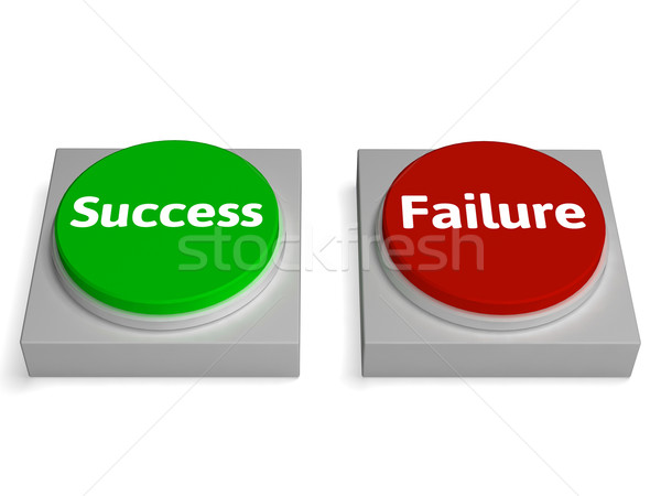Success Failure Buttons Show Successing Or Failing Stock photo © stuartmiles