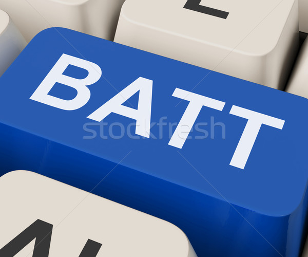 Batt Key Shows Battery Or Batteries Recharge Stock photo © stuartmiles