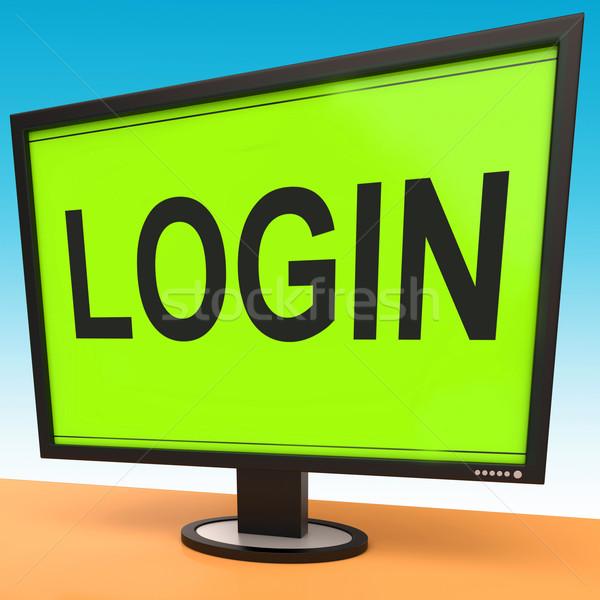 S'identifier écran site internet sécurité Photo stock © stuartmiles