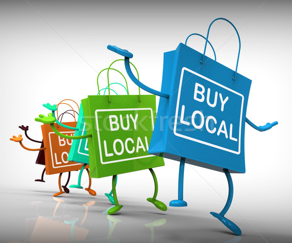 Buy Local Bags Represent Neighborhood Business and Market Stock photo © stuartmiles