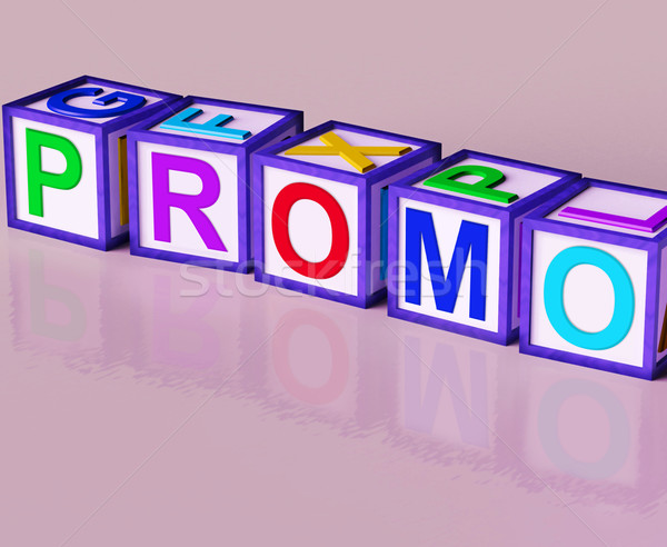 Promo Blocks Mean Special Reduced Price Or  Off Stock photo © stuartmiles