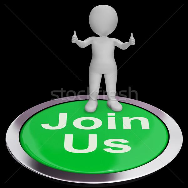 Afiliación club grupo botón comunidad Foto stock © stuartmiles