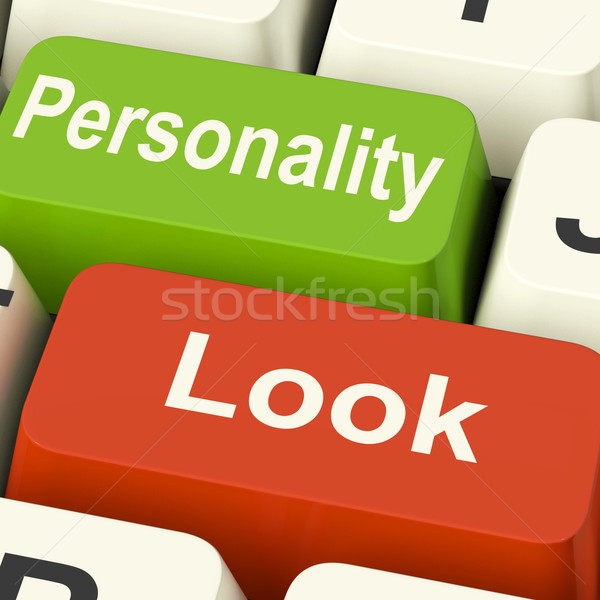 Look Personality Keys Shows Character Or Superficial Stock photo © stuartmiles