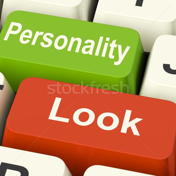Bakmak kişilik tuşları karakter Stok fotoğraf © stuartmiles