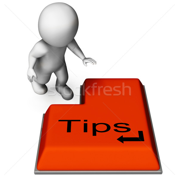 Tips Key Means Online Guidance And Suggestions Stock photo © stuartmiles