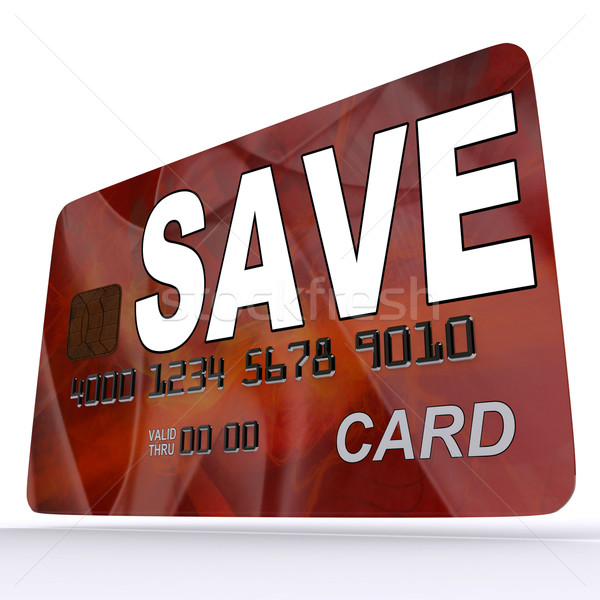 Save Bank Card Means Setting Aside Money In Savings Account Stock photo © stuartmiles
