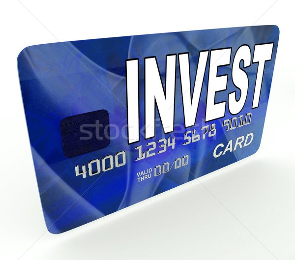 Invest on Credit Debit Card Shows Investing Money Stock photo © stuartmiles