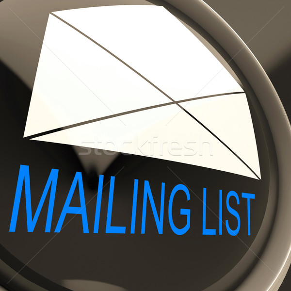 Mailing List Envelope Means Contacts Or Email Database Stock photo © stuartmiles