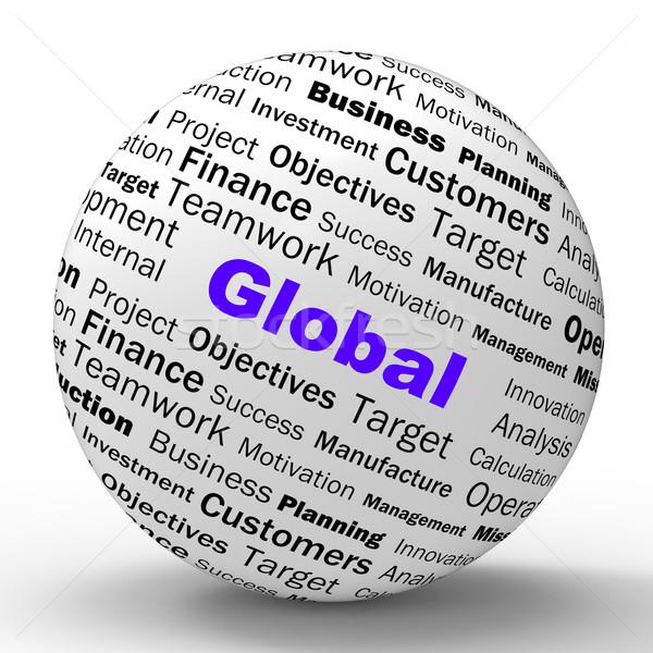 Mondial sphère définition internationaux communications Photo stock © stuartmiles