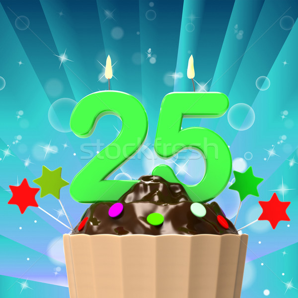 Vinte cinco vela nascimento aniversário Foto stock © stuartmiles