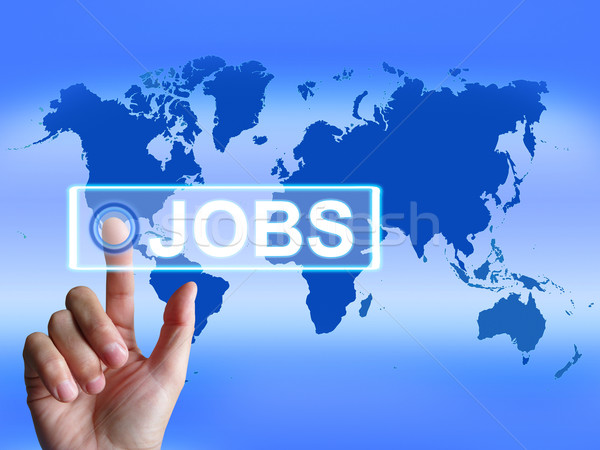 Jobs Map Represents Worldwide or Internet Career Search Stock photo © stuartmiles