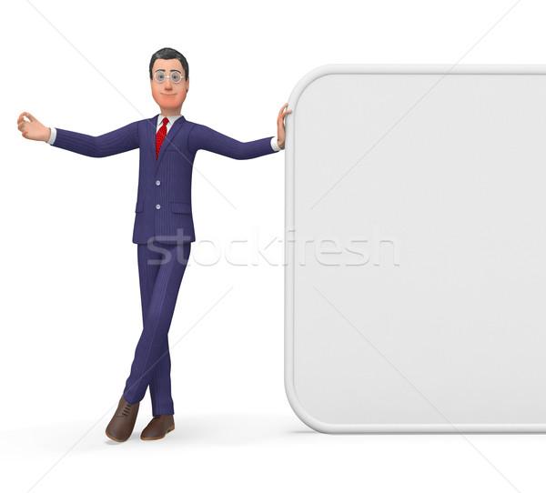 Businessman Presenting Represents Blank Space And Biz Stock photo © stuartmiles