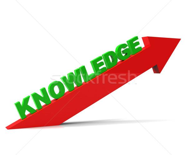 Növekedés tudás növekvő oktatás nyíl tanult Stock fotó © stuartmiles