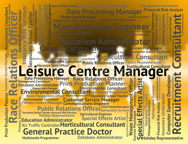 Leisure Centre Manager Represents Physical Activity And Career Stock photo © stuartmiles