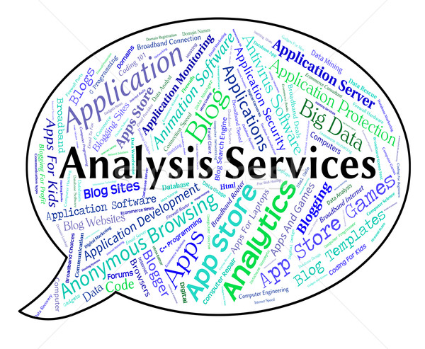 Stock photo: Analysis Services Represents Help Desk And Analyse
