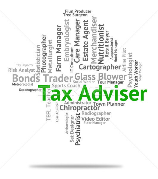 Tax Adviser Means Levies Duties And Counsellor Stock photo © stuartmiles
