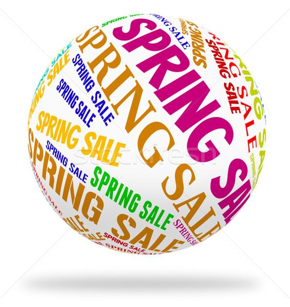 Spring Sale Means Cheap Season And Savings Stock photo © stuartmiles