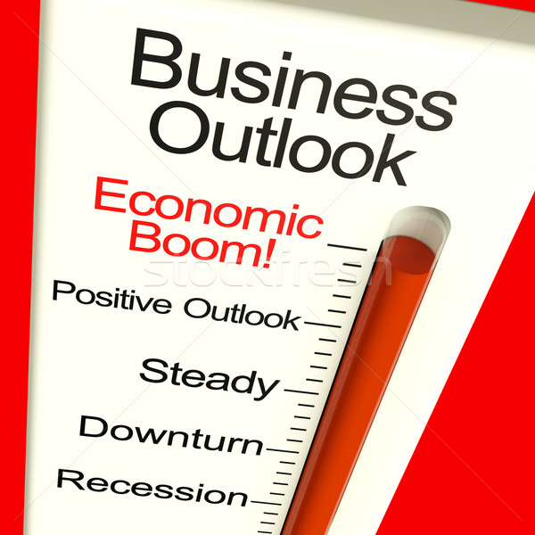 Business Outlook Economic Boom Monitor Shows Growth And Recovery Stock photo © stuartmiles