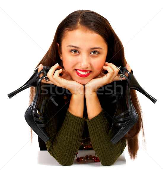 Pretty Girl With Her Shoes Off Stock photo © stuartmiles