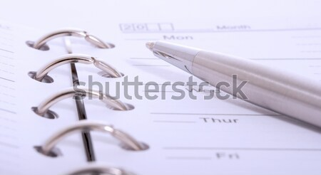 Organizing A Schedule For The Week Ahead Stock photo © stuartmiles