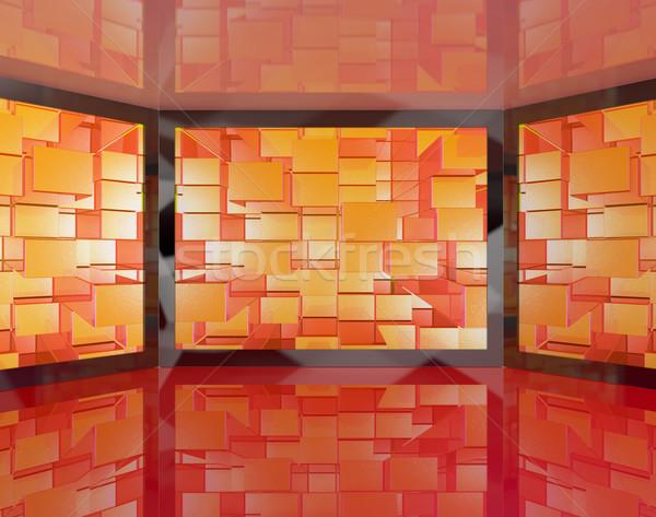 Nagy tv fal nagyfelbontású képernyő digitális Stock fotó © stuartmiles