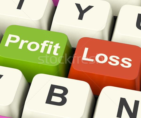 Profit Or Loss Keys Showing Returns For Internet Business Stock photo © stuartmiles