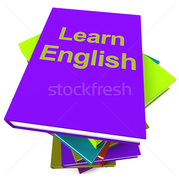 Learn English Book For Studying A Language Stock photo © stuartmiles