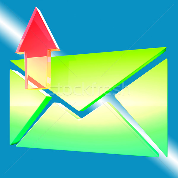 Envelope Symbol Shows Email Outbox Stock photo © stuartmiles