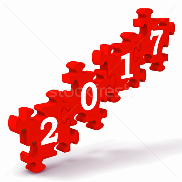 2017 Puzzle Shows New Year's Greetings Stock photo © stuartmiles