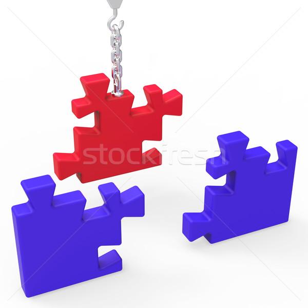 Befejezetlen puzzle mutat kreativitás stratégia ötletek Stock fotó © stuartmiles