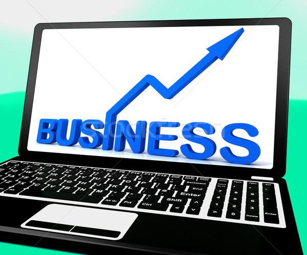Сток-фото: бизнеса · ноутбук · коммерческая · деятельность · веб