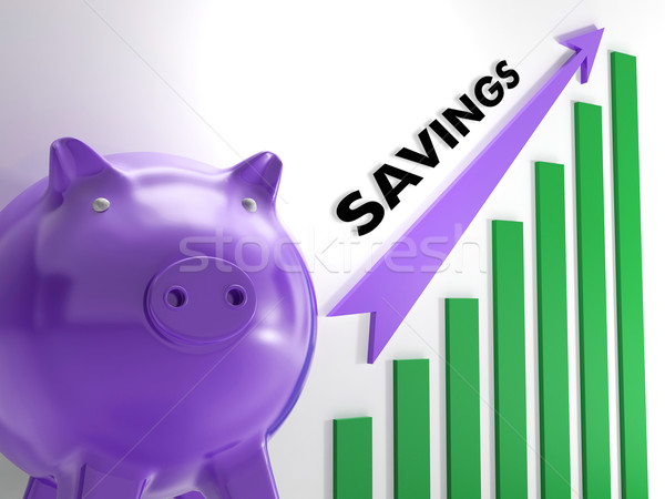 Raising Savings Chart Shows Monetary Growth Stock photo © stuartmiles