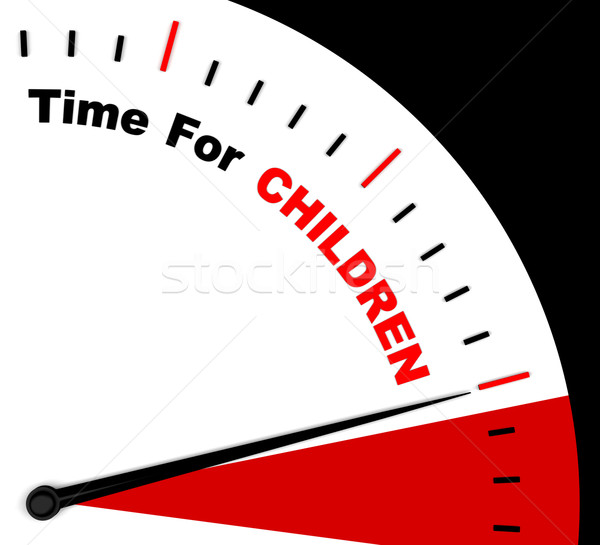 Time For Children Message Shows Playtime Or Getting Pregnant Stock photo © stuartmiles