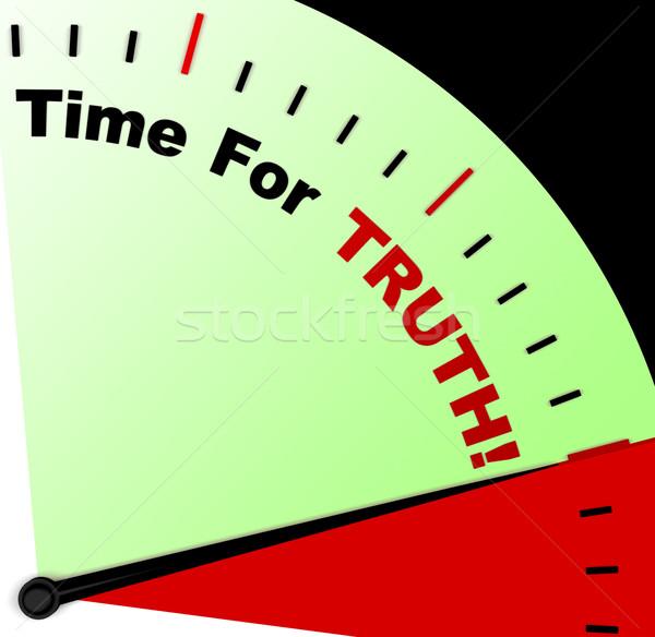 Idő igazság üzenet tisztességes jelentés Stock fotó © stuartmiles