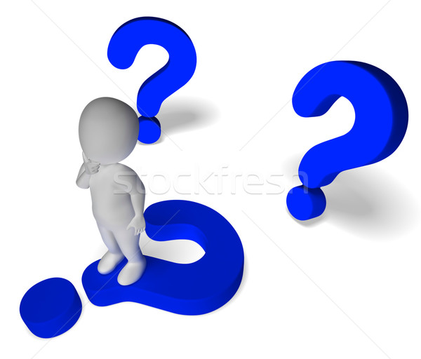 Question Marks Around Man Showing Confusion And Not Sure Stock photo © stuartmiles