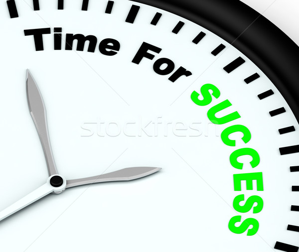 Time For Success Message Showing Victory And Winning Stock photo © stuartmiles