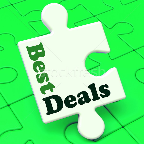 Best Deals Puzzle Shows Deal Promotion Or Bargain Stock photo © stuartmiles