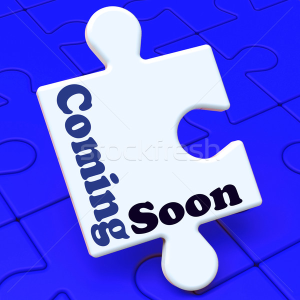 Coming Soon Puzzle Shows New Arrival Or Promotion Product Stock photo © stuartmiles