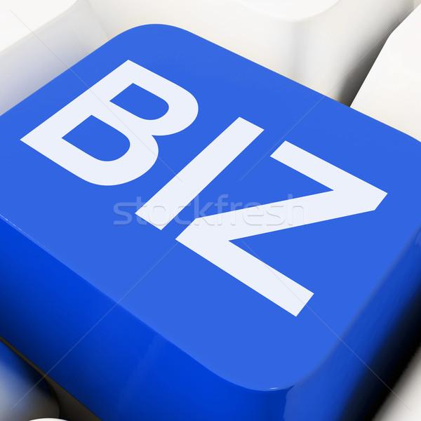 Biz Key Shows Online Or Web Business Stock photo © stuartmiles