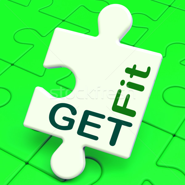 Get Fit Puzzle Shows Working Out Or Fitness Stock photo © stuartmiles